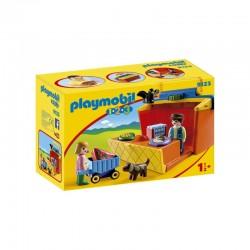 Playmobil 1.2.3 mercado Maletín - 9123