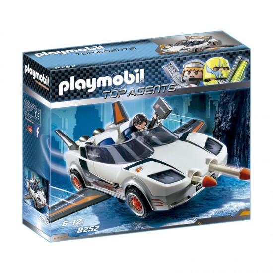 Playmobil Top Agent P with Racer Firing Weapons Toy Set - 9252