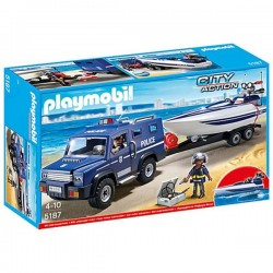 Playmobil Police Truck With Speedboat - 5187