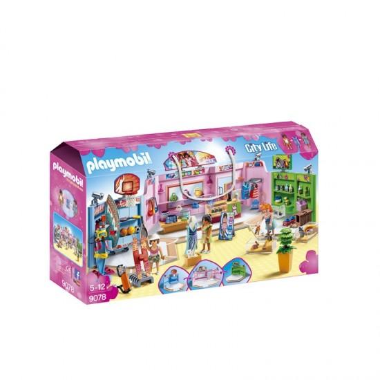 Playmobil Paseo comercial con 3 Tiendas - 9078