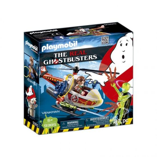 Playmobil Ghostbusters Venkman com Helicóptero - 9385