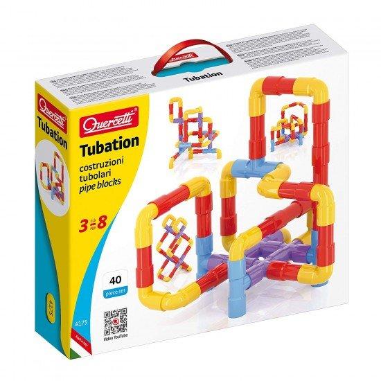 Quercetti Construction Game Tubes 40 pieces