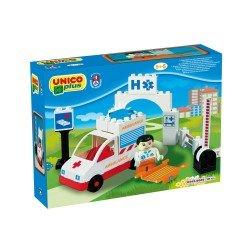 Unico Ambulancia 19 Piezas