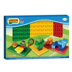 Unico Caixa com 3 Bases Coloridas Unico