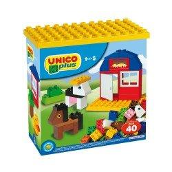 Unico 40 Blöcke Farm in Plastikbox