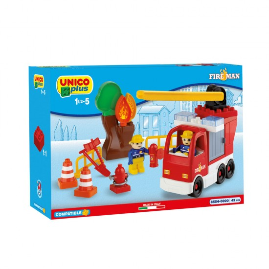 Unico Fire Truck 43 Pieces