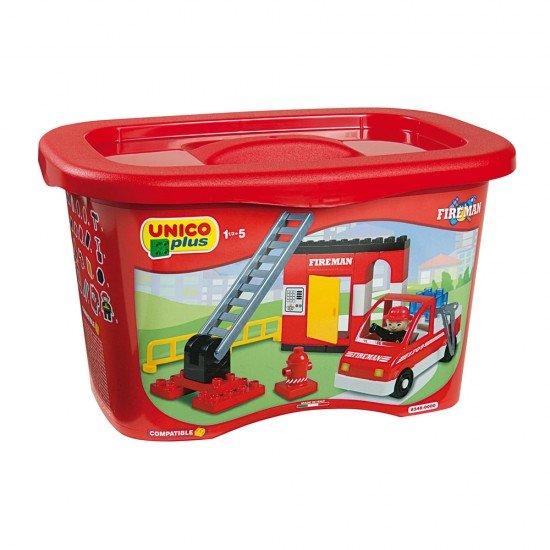 Unico 100 Feuerblöcke in Kunststoffboxen