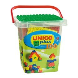 Unico 100 Blocks in Plastic Box