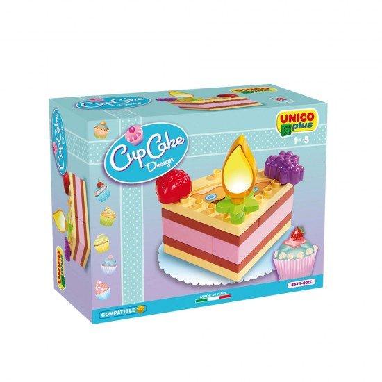 Unico Bolo Aniversário Cup Cake Design 14 peças