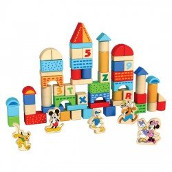 Bloques Madera Disney 100 piezas