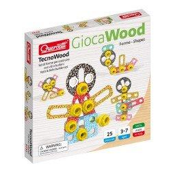 Quercetti Tecno Kit Wooden Building Set 25 pieces