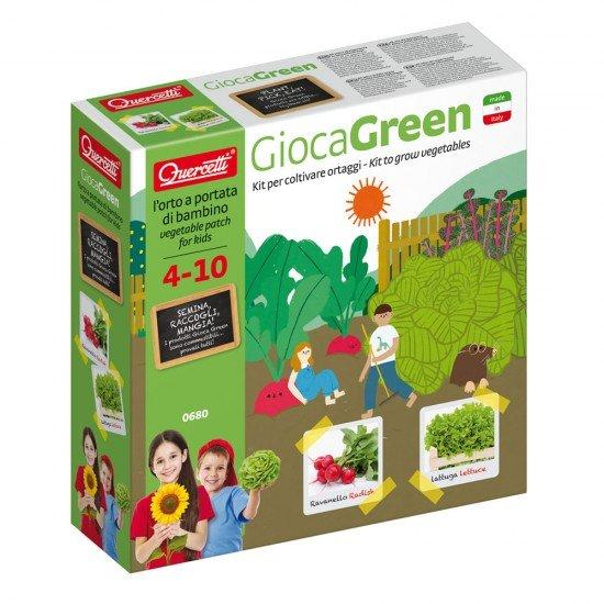Quercetti GiocaGreen Aprendo a Plantar Vegetais (Rabanete e Alface)