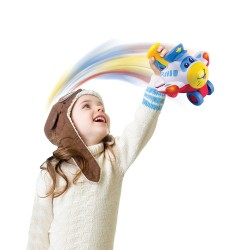 Happy Kid Fun Airplane Light, Sounds and Movements 18+