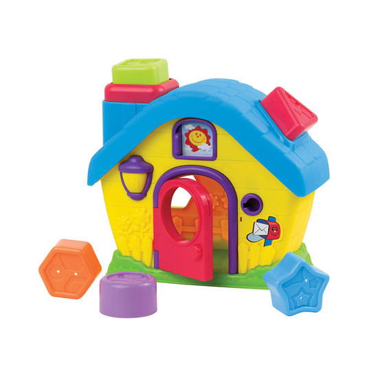Happy Kid Fun House with shapes and colors 12+ snap-in