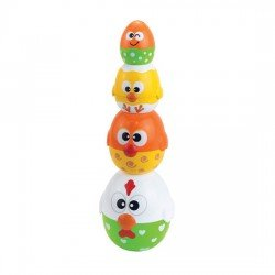 Happy Kid Stackable Toy Egg and Hen 6+