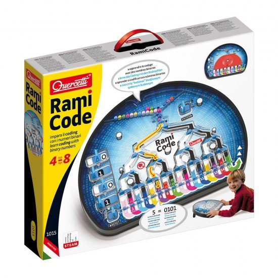 Quercetti Code Rami Game Binary Numbers