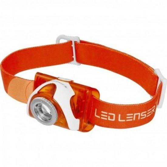 Led Lenser Linterna Frontal SEO3 Naranja 100 lumens