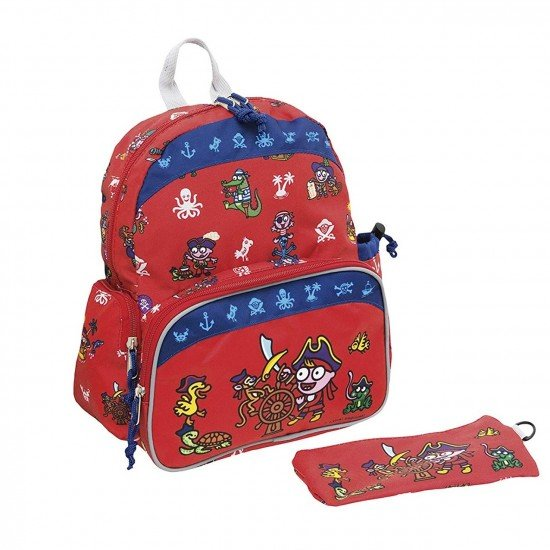 Laken Red Children's Backpack with Thermal Pocket for Children Over 3 years old Katuki Saguyaki