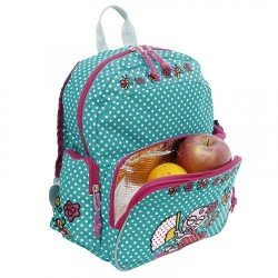 Laken Green and Pink Children's Backpack with Thermal Pocket for Children Over 3 years Katuki-Baby Flamenca
