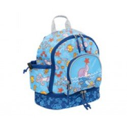 Laken Blue Children's Backpack 27 cm (2 years) with Thermal Pocket Katuki-Dolphin