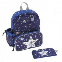 Laken Blue Children's Backpack 33 cm (3 years) with Thermal Front Pocket Space Oddity