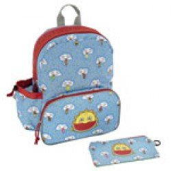 Laken Light blue Children's Backpack 33 cm (3 years) with Freskito Thermal Front Pocket