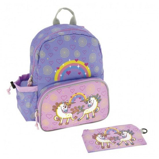 Laken Purple Children's Backpack 33 cm (3 years) with Unicorn Thermal Front Pocket
