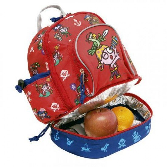 Laken Red Children's Backpack 27 cm (2 years) with Thermal Pocket Katuki-Piratikis