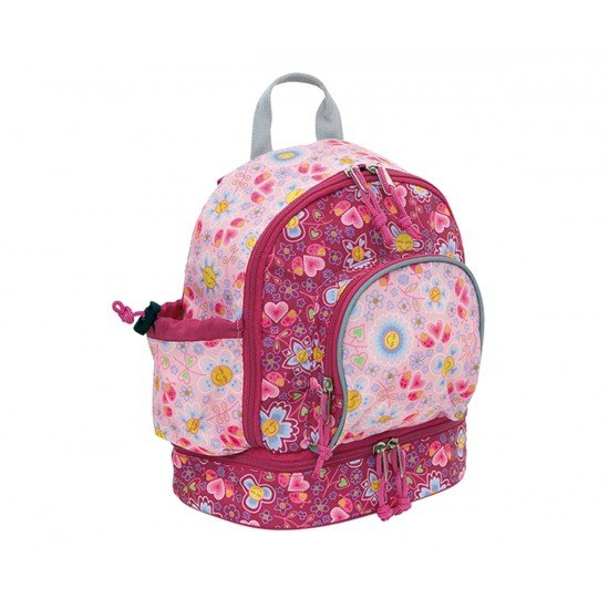 Laken Pink Children's Backpack 27 cm (2 years) with Thermal Pocket Katuki-Bugs and Flowers