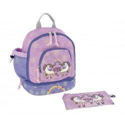 Laken Pink Kinderrucksack 27 cm (2 Jahre) mit Einhorn Thermotasche