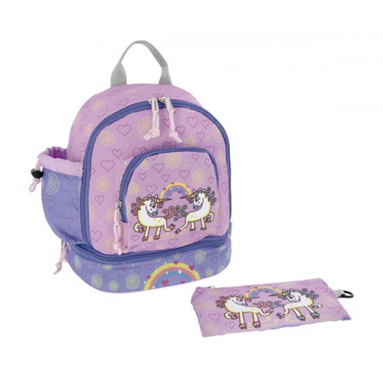 Laken Pink Children's Backpack 27 cm (2 years) with Unicorn Thermal Pocket
