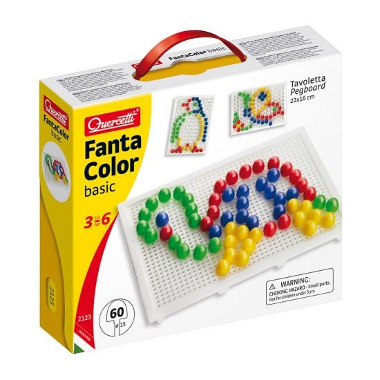 Quercetti Juego Arte Visual Pixel 60 Pinos 4 Colores