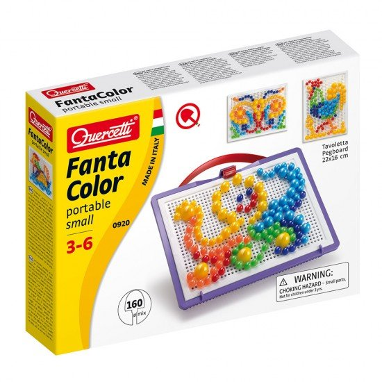 Quercetti Visual Pixel Arts Game Small 160 Pins 6 Colours