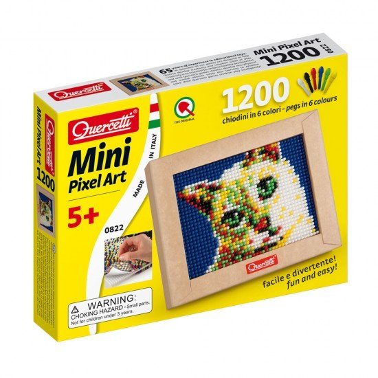 Quercetti Mini Pixel Art Cat 1200 Pins + Board