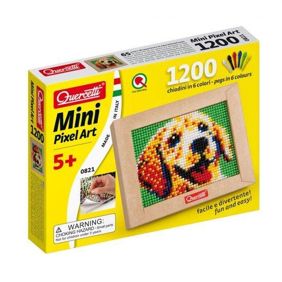 Quercetti Mini Pixel Art el Perro 1200 Pinos + Tabla