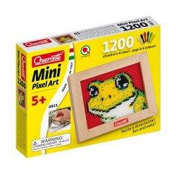 Quercetti Mini Pixel Art Frog 1200 Pins + Board