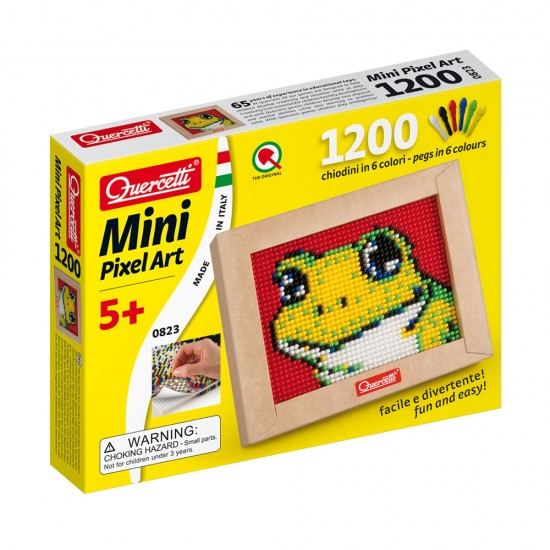 Quercetti Mini Pixel Art o Sapo 1200 Pinos + Placa