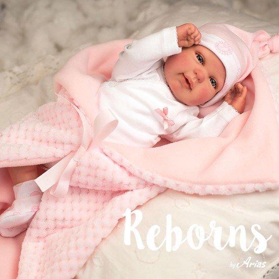 Bonecas Arias Arias Reborns 45 cm Rocio com Manta - 98020