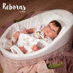 Arias Dolls Reborns 40 cm Candy with Carrycot - 98033