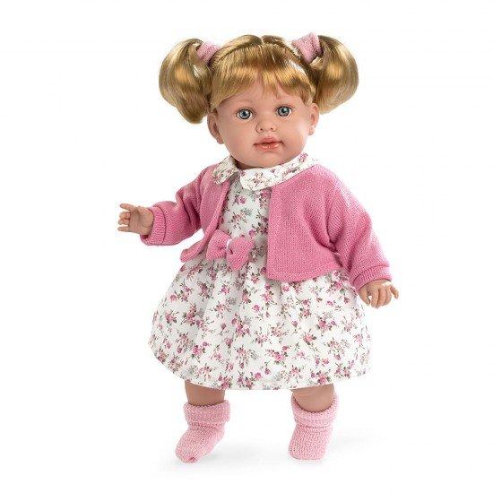 Arias Doll Elegance 42 cm Pink Elian Flowers Dress