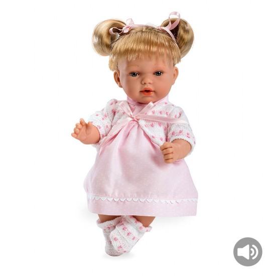 Bonecas Arias Elegance 28 cm Hanne Rosa com Som - 60126