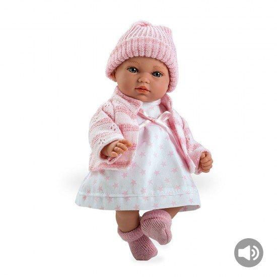 Bonecas Arias Elegance 28 cm Andrea Rosa com Som - 60188