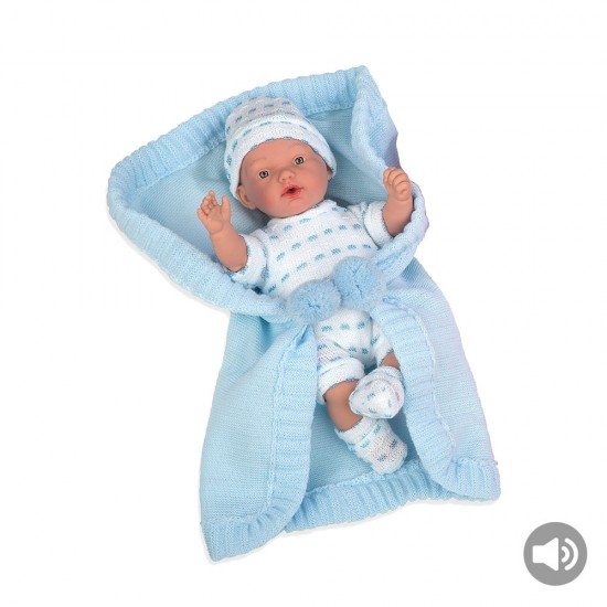 Arias Dolls Elegance 28 cm Blue Hanne with Blanket and Sound - 60243