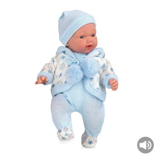 Bonecas Arias Elegance 28 cm Hanne Azul com Sons Babygrow - 60247