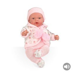 Arias Dolls Elegance 28 cm Pink Flower Hanne + Sounds - 60246