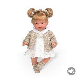 Bonecas Arias Elegance 28 cm Hanne Bege Casaquinho + Sons - 60251