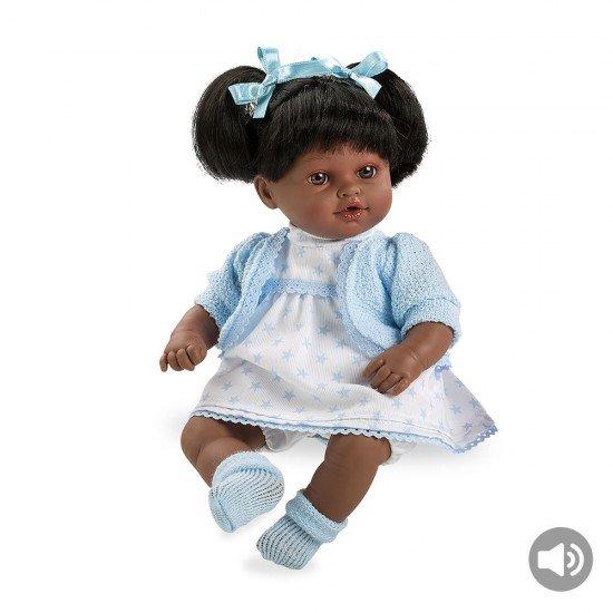 Muñecas Arias Elegance 33 cm Emma-Negrita Azul con Sonido - 60194