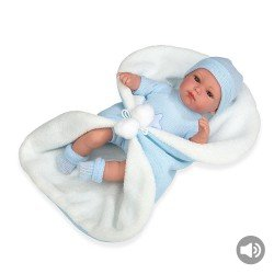 Arias Dolls Elegance 33 cm Blue Erea with Blanket and Sound - 60253
