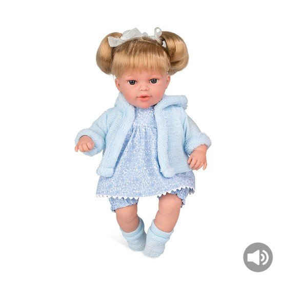 Arias Dolls Elegance 33 cm Blue Lua Bow + Sound - 60259