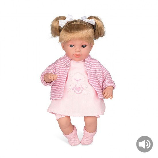 Arias Dolls Elegance 33 cm Pink Lua Blonde + Sound - 60256